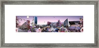 Pink City Framed Print by Emily Campbell