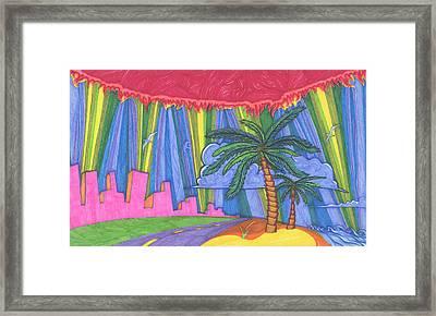 Pink City Framed Print by James Davidson