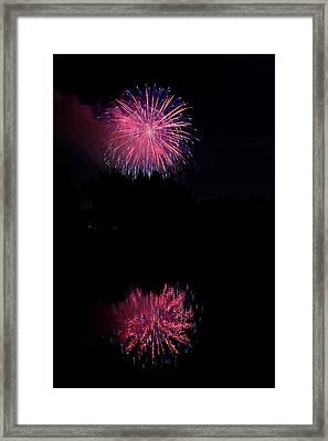 Pink Fireworks Framed Print by James BO  Insogna