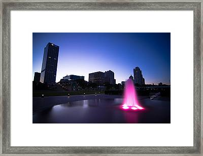 Pink Fountain Framed Print by Jonah  Anderson