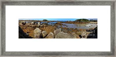 Pink Granite Coast Framed Print by Heiko Koehrer-Wagner