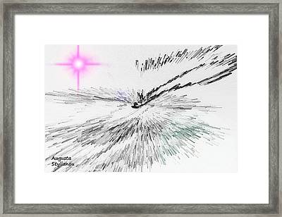 Pink Light Framed Print by Augusta Stylianou