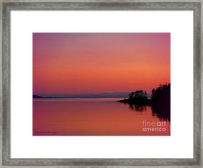 Pink Morn At Rock Point Framed Print by Gail Bridger