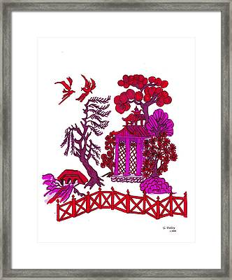 Pink Pagoda Framed Print by Gail Daley
