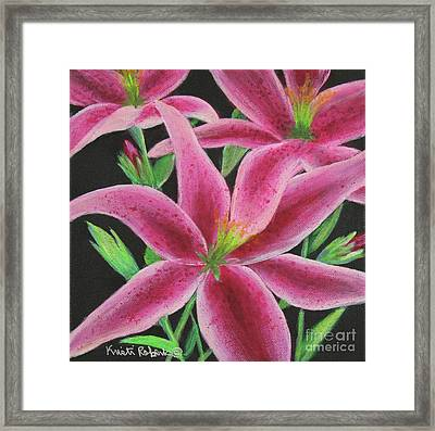 Pink Paradise Framed Print by Kristi Roberts