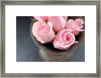 Pink Roses Framed Print by Shawna Lemay
