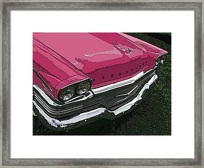 Pink Studebaker Nose Study Framed Print by Samuel Sheats