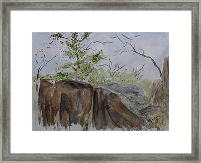 Pinnacle Trail - Sketch Framed Print by Joel Deutsch