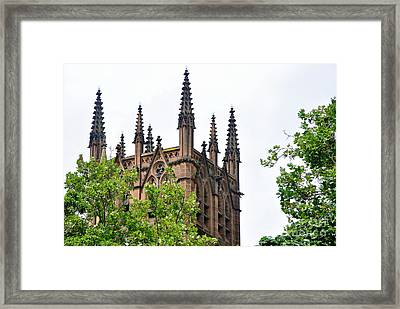 Pinnacles Of St. Mary's Cathedral - Sydney Framed Print by Kaye Menner