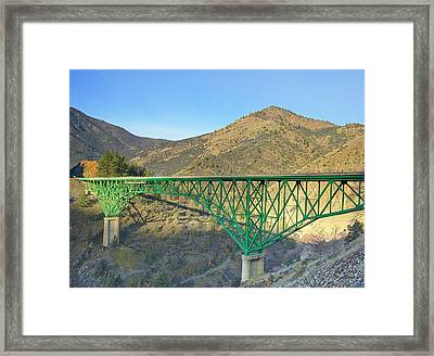 Pioneer Bridge Framed Print by Loree Johnson