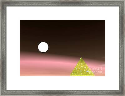 Piramide And Planet Framed Print by Odon Czintos