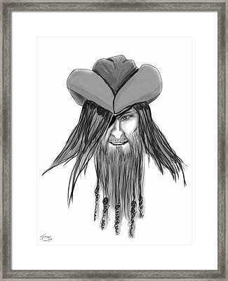 Pirate Patch Framed Print by Donny Stansel