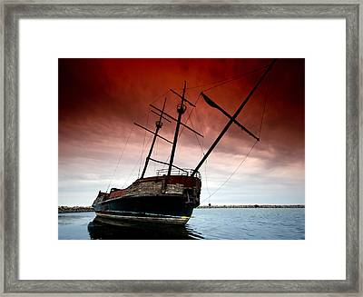 Pirate Ship 2 Framed Print by Cale Best