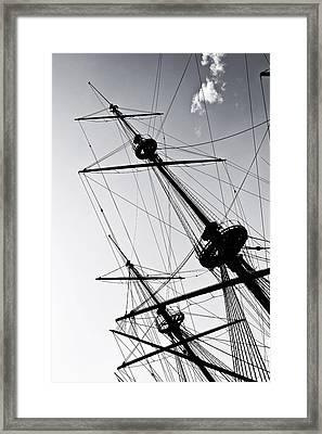 Pirate Ship Framed Print by Joana Kruse