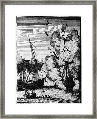 Pirate Ships Framed Print by Granger