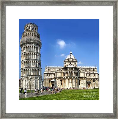 Pisa Italy - Piazza Dei Miracoli - 01 Framed Print by Gregory Dyer