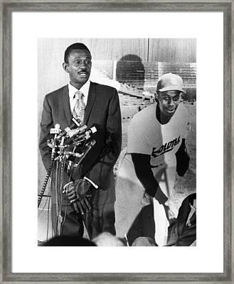 Pitcher Leroy Satchel Paige 1906-1982 Framed Print by Everett