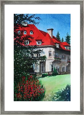 Pittock Mansion - Portland Oregon Framed Print by Kerri Ligatich