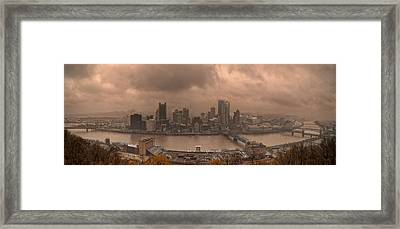 Pittsburgh Skyline 1 Framed Print by Wade Aiken
