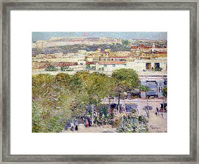 Place Centrale And Fort Cabanas - Havana Framed Print by Childe Hassam
