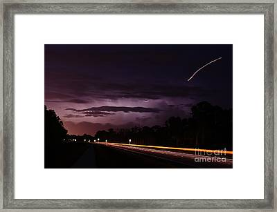 Planes Lightning And Automobiles Framed Print by Lynda Dawson-Youngclaus
