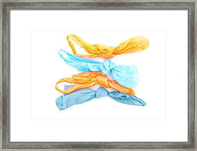 Plastic Bags Framed Print by Tom Gowanlock