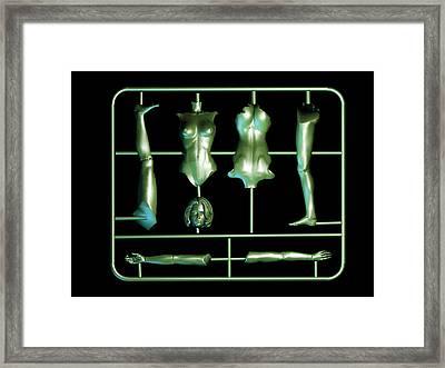 Plastic Female Body Kit Framed Print by Christian Darkin
