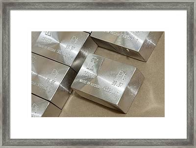 Platinum Bars Framed Print by Ria Novosti