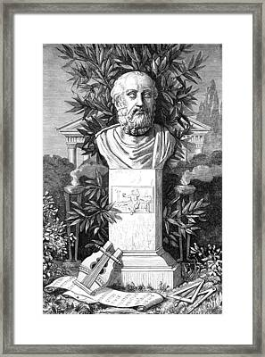Plato, Ancient Greek Philosopher Framed Print by