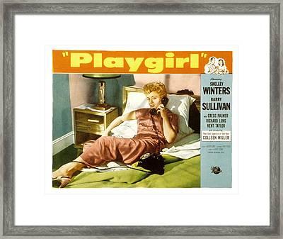 Playgirl, Shelley Winters, 1954 Framed Print by Everett