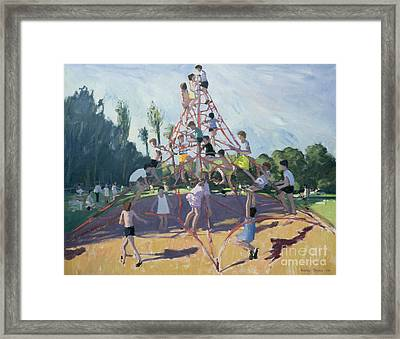 Playground Framed Print by Andrew Macara
