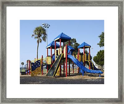 Playground Equipment Framed Print by Skip Nall