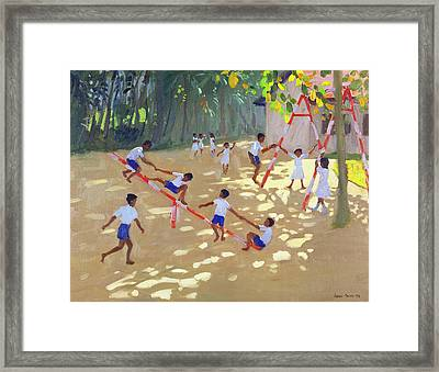Playground Sri Lanka Framed Print by Andrew Macara