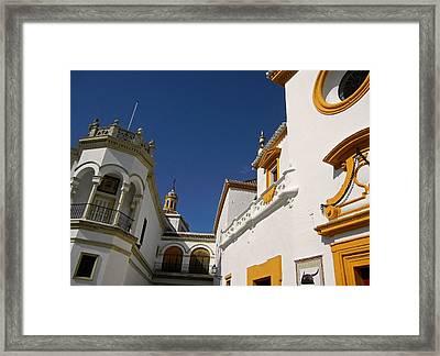 Plaza De Toros De La Real Maestranza - Seville Framed Print by Juergen Weiss
