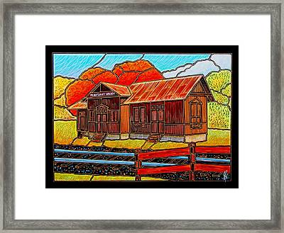 Pleasant Valley Station Framed Print by Jim Harris