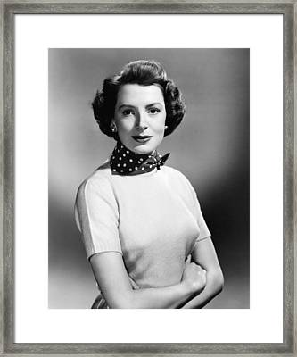 Please Believe Me, Deborah Kerr, 1950 Framed Print by Everett