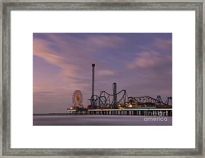 Pleasure Pier Amusement Park Galveston Texas Framed Print by Keith Kapple
