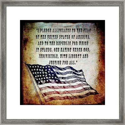 Pledge Framed Print by Angelina Vick