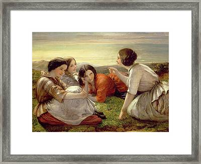 Plotting Mischief Framed Print by Frank Stone