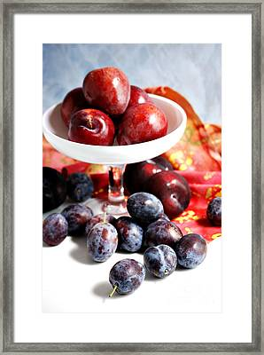 Plums Framed Print by HD Connelly