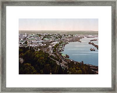 Podil Neighborhood In Kiev - Ukraine - Ca 1900 Framed Print by International  Images