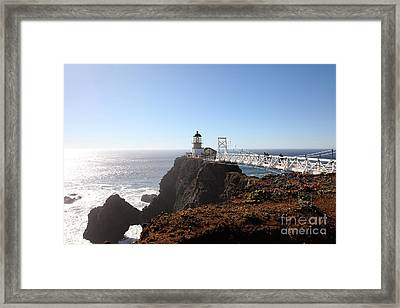 Point Bonita Lighthouse In The Marin Headlands - 5d19700 Framed Print by Wingsdomain Art and Photography