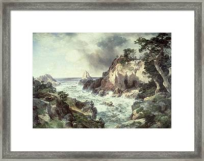 Point Lobos At Monterey In California Framed Print by Thomas Moran