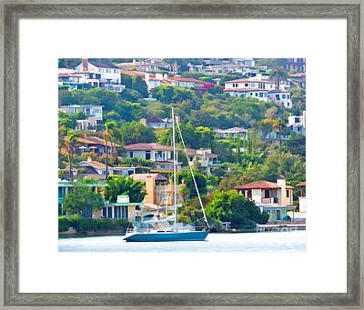 Point Loma Harbor Side Framed Print by L J Oakes