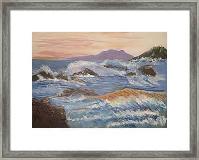 Point Reyes Storm Framed Print by Al Steinberg