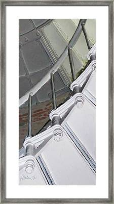 Point Sur Lighthouse Stairway Framed Print by Jim Pavelle