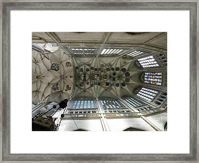 pointed vault of Saint Barbara church Framed Print by Michal Boubin