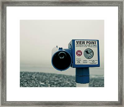 Pointlessness Is Pointing Telescope Framed Print by Andy Teo aka Photocillin