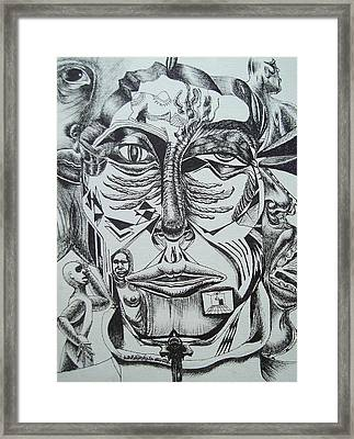 Points Of View Beneath The Surface Framed Print by Nazarius Almazol