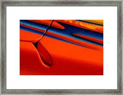 Poker Boat Design Framed Print by Bruce Gunion